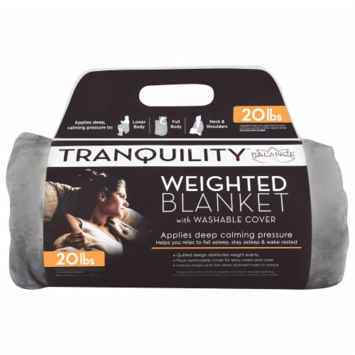 Tranquility Adult Weighted Blanket - Gray Perspective: front