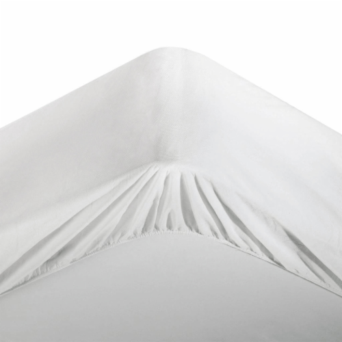 Rest Right Waterproof Mattress Protector - White Perspective: front