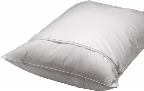 AllerEase Durable Microfiber Pillow Protector - 2 Pack - White Perspective: front