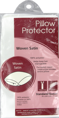 Rest Right Satin Pillow Protector - White Perspective: front