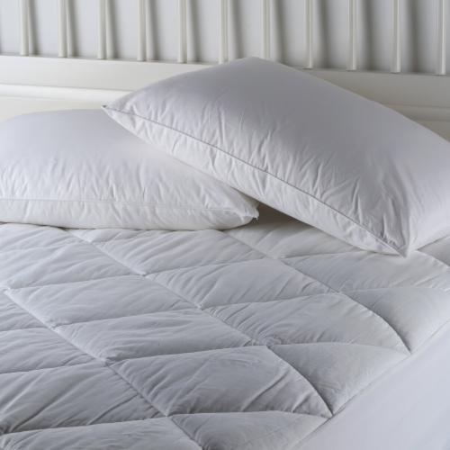 AllerEase Waterproof Allergy Protection Zippered Mattress Protector - White Perspective: front
