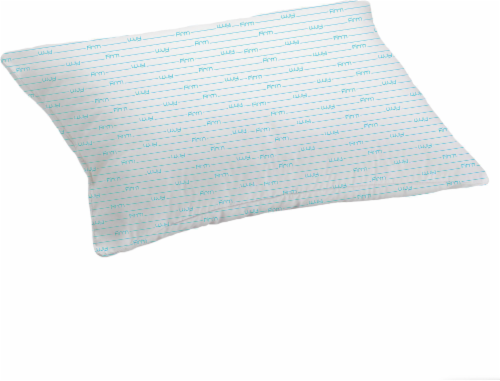 Rest Right Microfiber Firm Pillow with Blue Cord - White Perspective: front