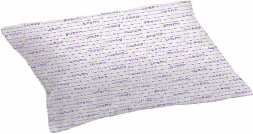 Rest Right Microfiber Extra-Firm Pillow with Purple Cord - White Perspective: front
