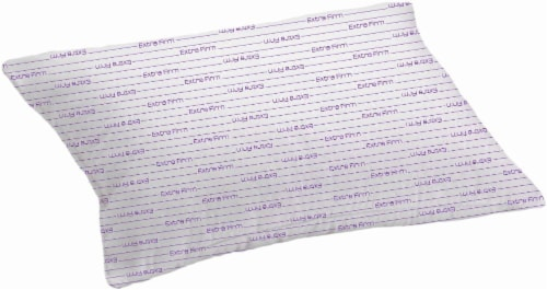 RestRight Microfiber Extra-Firm Pillow with Purple Cord - White Perspective: front