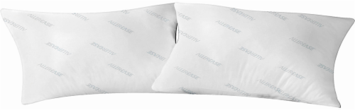 Microfiber Pillow Protector - 2 pk - White Perspective: front