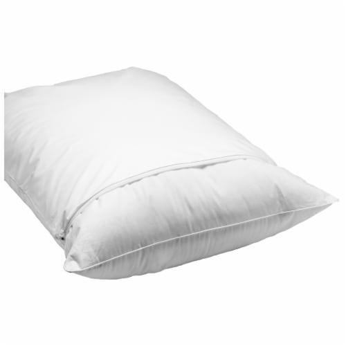 Rest Right Cotton Sateen Pillow Protector - White Perspective: front