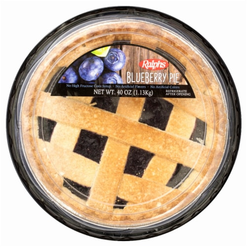 """Ralphs Blueberry 9"""" Pie Perspective: front"""