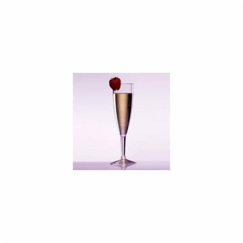 Prodyne AF-6 Prima Acrylic 6 oz Champagne Flute - Pack of 24 Perspective: front