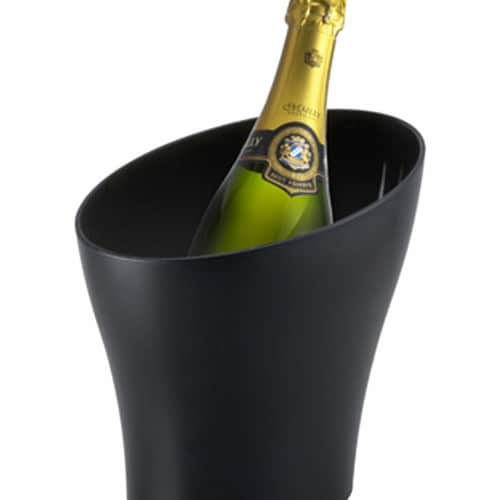 Prodyne Slope Textured Wine Bucket, Black Perspective: front