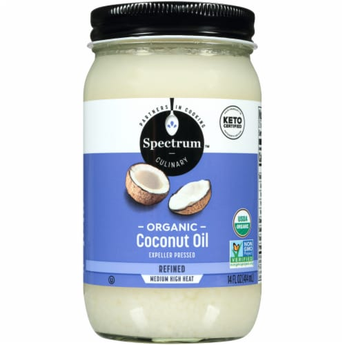 Spectrum Organic Refined Coconut Oil Perspective: front
