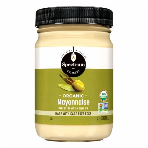 Spectrum Organic Mayonnaise with Extra Virgin Olive Oil Perspective: front