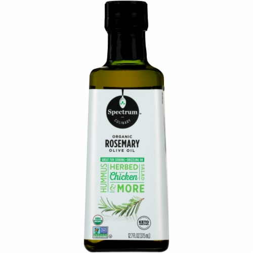 Spectrum Organic Rosemary Extra Virgin Olive Oil Perspective: front