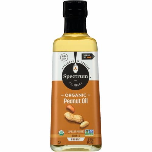 Spectrum Organic Refined Peanut Oil Perspective: front