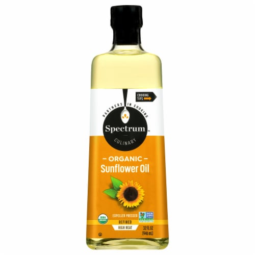 Spectrum Culinary Organic Refined High Heat Sunflower Oil Perspective: front