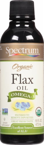 Spectrum Essentials Organic Flax Oil Perspective: front
