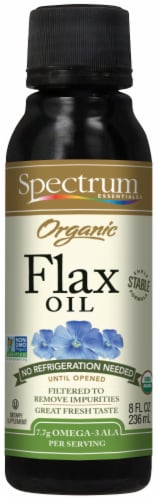 Spectrum Essentials Organic Flax Oil Perspective: front