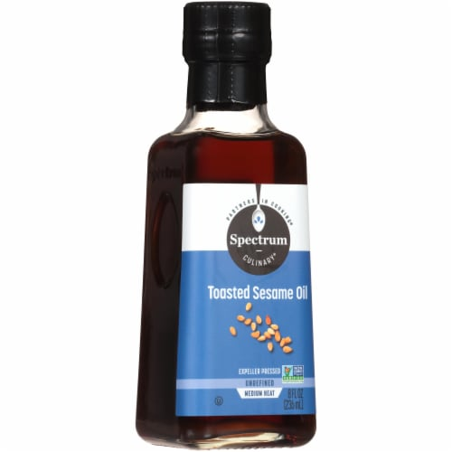 Spectrum Unrefined Toasted Sesame Oil Perspective: front