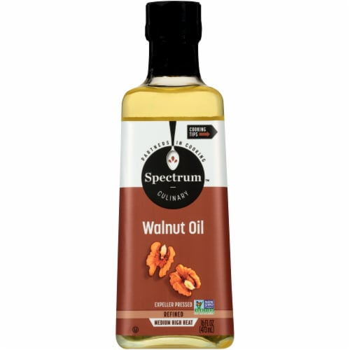 Spectrum Refined Medium Heat Walnut Oil Perspective: front