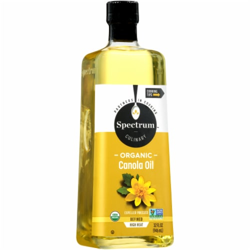 Spectrum Culinary Organic Refined High Heat Canola Oil Perspective: front