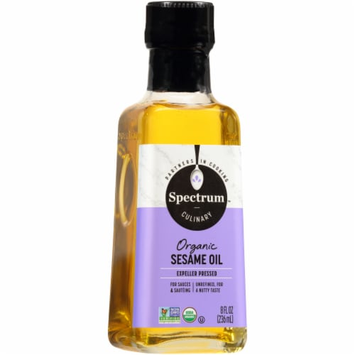 Spectrum Culinary Organic Sesame Oil Perspective: front