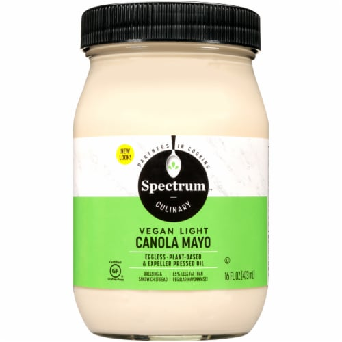 Spectrum Eggless Vegan Light Canola Mayonnaise Perspective: front