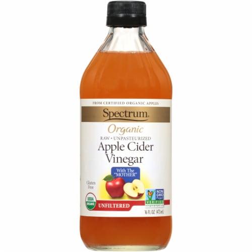 Spectrum Organic Unfiltered Apple Cider Vinegar Perspective: front