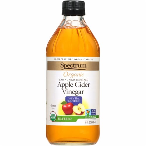 Spectrum Organic Raw Apple Cider Vinegar Perspective: front