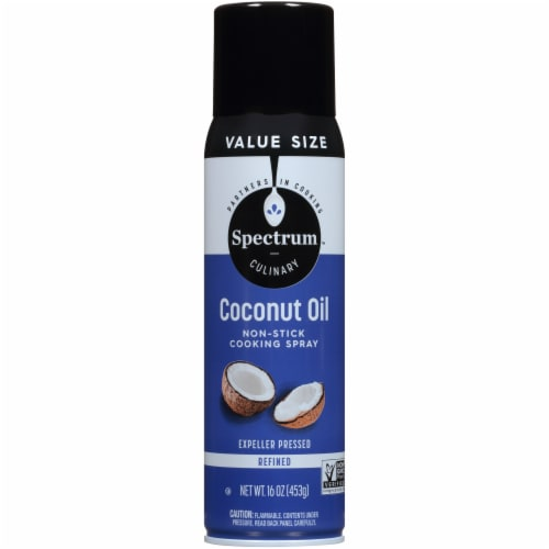 Spectrum Coconut Oil Cooking Spray Perspective: front