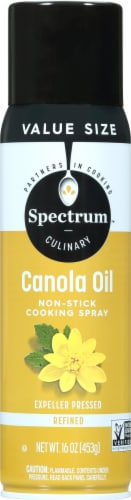 Spectrum High Heat Canola Oil Non-Stick Cooking Spray Perspective: front