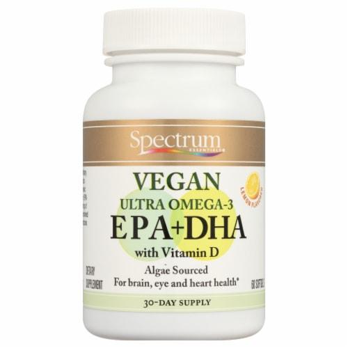 Spectrum Essentials Vegan EPA + DHA Softgels Perspective: front