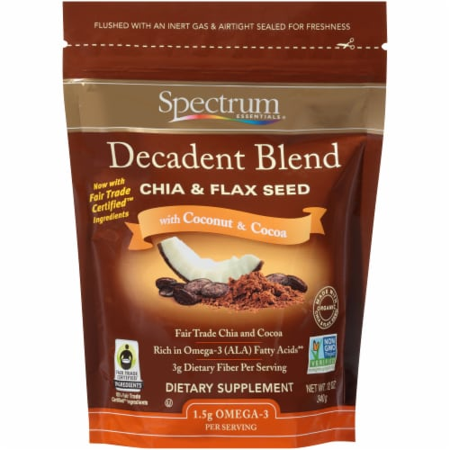 Spectrum Essentials Decadent Blend Chia & Flax Seed Perspective: front