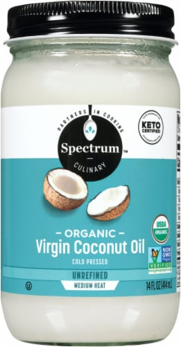 Spectrum Organic Virgin Unrefined Coconut Oil Perspective: front