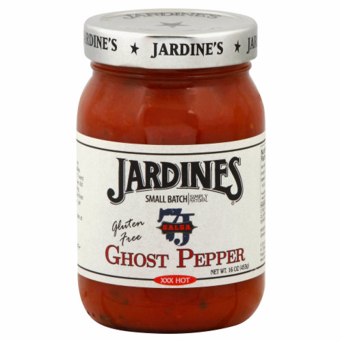 Jardines Ghost Pepper Salsa Perspective: front
