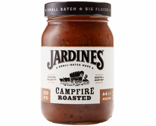 Jardines Campfire Roasted Medium Salsa Perspective: front