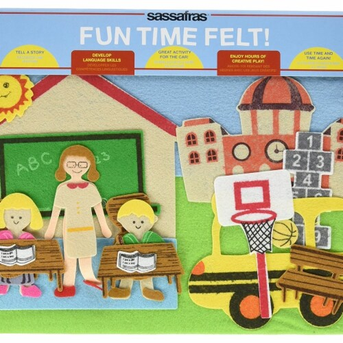 Sassafras Fun Time Felt Board, Ready for School Perspective: front