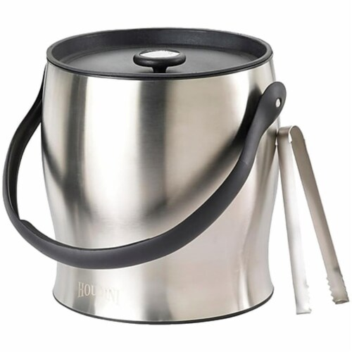 Houdini Double Walled Ice Bucket with Tongs Perspective: front