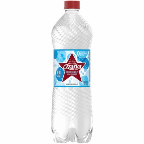 Ozarka Natural Sparkling Bottled Water Perspective: front