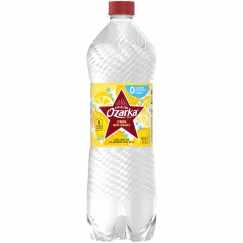 Ozarka Lemon Natural Sparkling Water Perspective: front