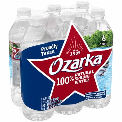Ozarka Natural Spring Bottled Water Perspective: front