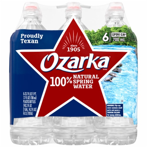 Ozarka 100% Natural Spring Water Perspective: front
