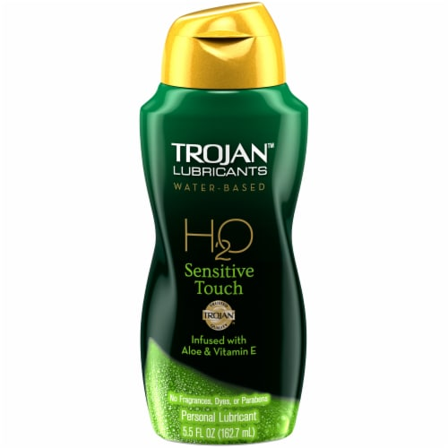 Trojan H2O Sensitive Touch Water Based Lubricant Perspective: front
