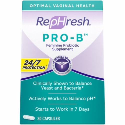 RepHresh Pro-B Probiotic Feminine Supplement Capsules Perspective: front