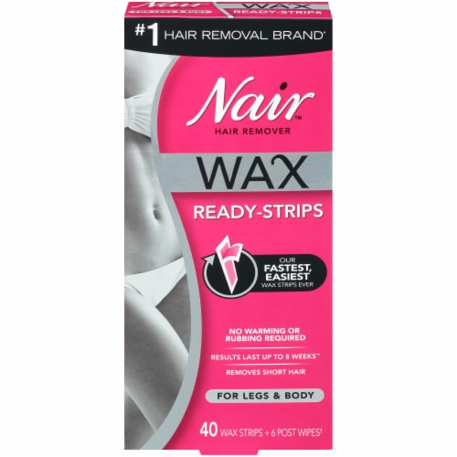 Nair Wax Ready Strips for Legs & Body Perspective: front