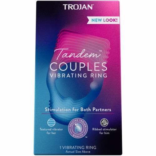Trojan Vibrations Tandem Couple Vibrating Ring Perspective: front