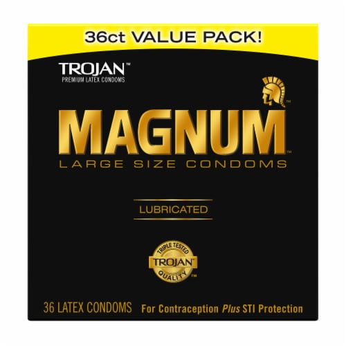 Trojan Magnum Lubricated Large Size Condoms Value Pack Perspective: front