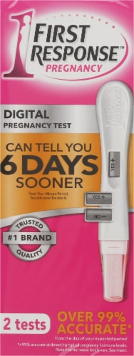 First Response Digital Pregnancy Test 2 Count Perspective: front