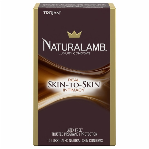 Trojan Naturalamb Skin-to-Skin Real Intimacy Luxury Condoms Perspective: front