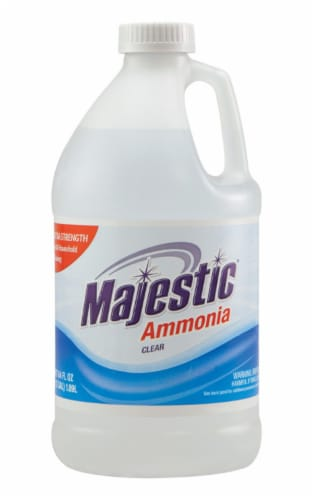 Majestic  Regular Scent Ammonia  Liquid  64 oz. - Case Of: 8; Perspective: front