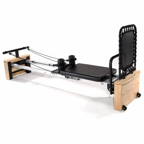 Stamina AeroPilates Pro XP557 Reformer Resistance System with Cardio Rebounder Perspective: front
