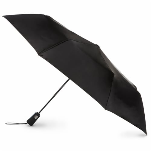 Totes Automatic Open Close Compact Umbrella Perspective: front